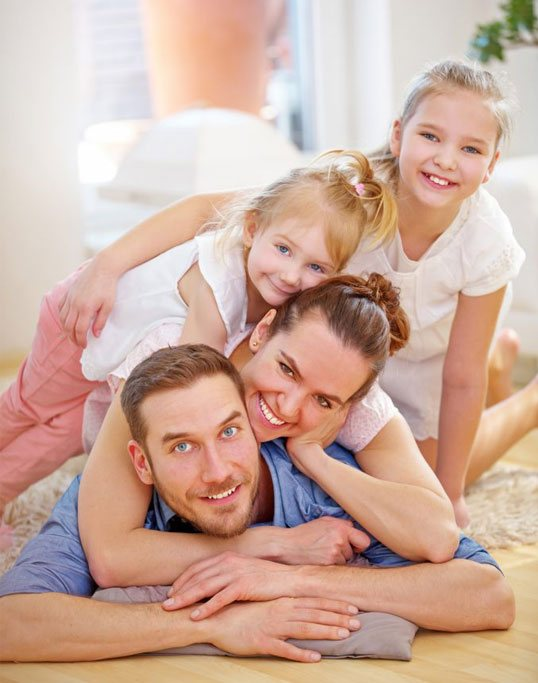 comfort clean happy family